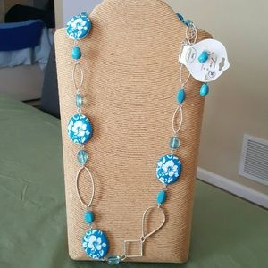 NWT Tropical Necklace & Earrings
